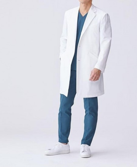 Slika Muski beli mantil ,zastitna oprema u zdravsvu iz uvoza