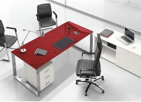 Slika Riimini glass desk,radni sto za ordinaciju