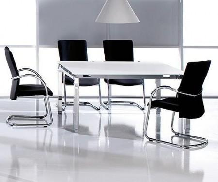 Slika White Glass sto za sastanke