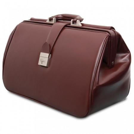 Slika Torba za Lekare od koze Braon i Crna Doctors Leather Medical Bags