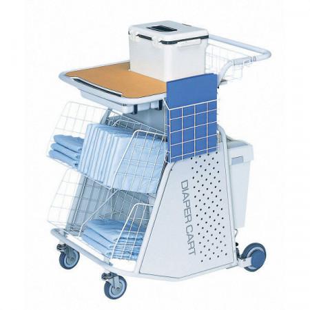 Slika TY411 1 Nisshin Medical Instruments Diaper Exchange Cart,Kolica za razmjenu pelena Medical equipment