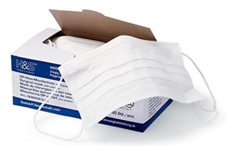 Slika Dostupno Hirurske jednokratne maske,50.komada pakovanje