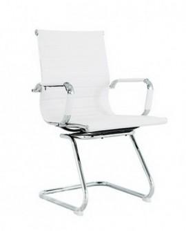 Slika White 1 Pomocna stolica za cekaonicu i kabinet