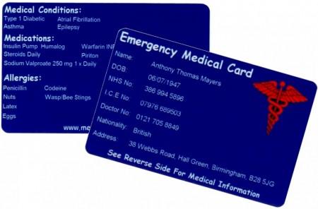 Slika Indentifikacione kartice sa podacima