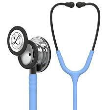 Slika Littmann Classic III Stethoscope, Mirror Chestpiece, Ceil Blue Tube, Smoke Stem and Smoke Headset, 27 inch, 5959