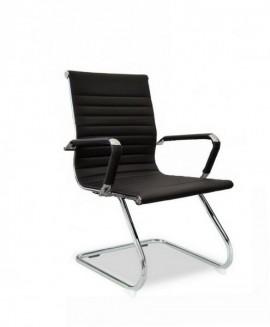 Slika Office black  1 pomocna stolica za kabinet i cekaonicu