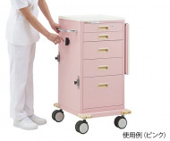 Emergency cart (hand lock) Pink HT-Z1P-Japan