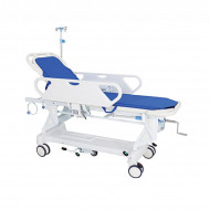 Manual patient transfer trolley