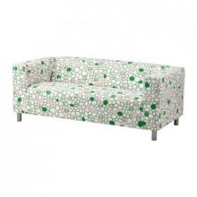 Sofa sa tri sedista, sofa cover 2-local - Marehill pink / green