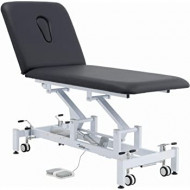 Addax Medical Practice Manager Electric Treatment Couch - 2 Sections - Black