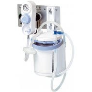 Blue Cross Emergency Wall-mounted suction unit Separate Handle color: Blue