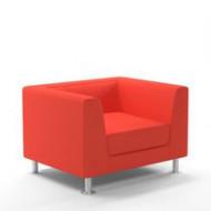 Waiting room sofa / 2-person / 3-seater / design PRADO