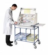 2 storage trays-WDT50-KDWard Drug & Medicine Dispensing Trolley