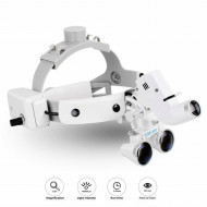 Dental Binocular Loupes Glasses Headband Magnifier with LED Light 3.5X-420 Optical