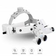 Dental Binocular Loupes Glasses Headband Magnifier with LED Light 3.5X-420 Optical
