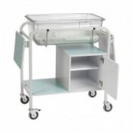Jaslice za bebe fiksne visine sa velikim ormnaromFixed Height Baby Crib with Small Cupboard