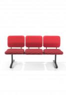 Stolice za cekaonicu VL12 3 seat beam, freestanding, silver frame