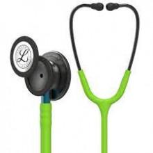 Littmann Classic III Monitoring Stethoscope: Smoke & Lime Green - Blue Stem 5875