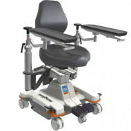 Mobile surgeon's chair / height-adjustable surgiForce light