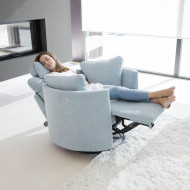 Spanija-Moonrise Swivel/Glider Recliner Chair by Famaliving, Kucna Nega