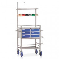 Stainless Steel Surgical Crash Cart, Polished, Size: 940mm*490mm*1535mm
