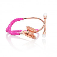 MedGlobal-Belgrade-- MDF Pink Fairy Rose Gold Glitter Stethoscope