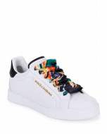 Dolce & GabbanaLeather Sneakers with Scarf Laces