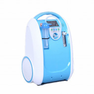 Portable 1-5L Ox-ygen Generator O2 Concentrator Home Travel Air Purifier Machine Blue