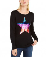 INC Sequin Star Sweater, Created For Macy's