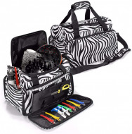 Cosmetic Organizer with Accessory Pockets, For both hand or shoulder carry