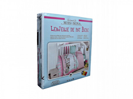 Lenjerie pat Bebe, Baby Party, Bumbac 100%