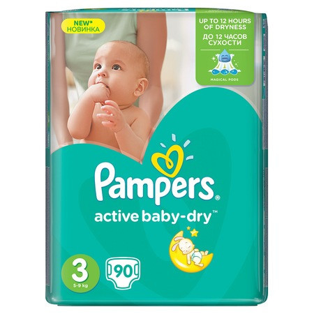Pampers nr. 3 (4-9kg) Giant Pack 90 buc