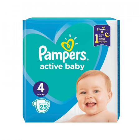 Pampers Nr. 4 Active Baby 9-14 kg Scutece x 25 bucati