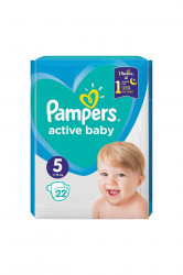Scutece Pampers Active Baby Nr. 5, 22 bucati, 11-16 kg