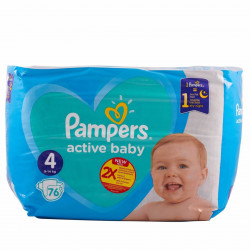 Pampers new baby, nr. 4 Active Baby pentru copii, GIANT PACK, 76 buc, 9-14 kg