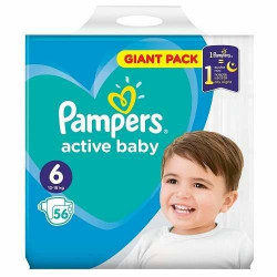 Scutece Active baby nr 6, 13-18kg, 56buc, Pampers