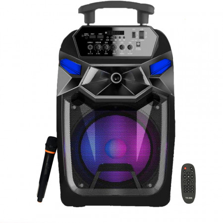 Boxa Bluetooth 250W, Karaoke, Card, USB, MP3