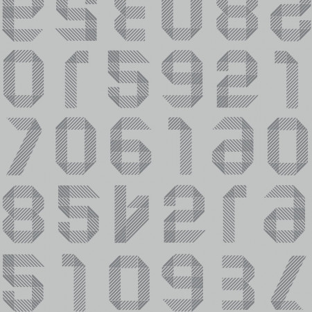 Tarkett Covor PVC Origami Numbers Light Grey www.linoleum.ro
