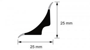 Profil ascuns tip scafa, profil de inchidere pentru montaj linoleum sau covor PVC