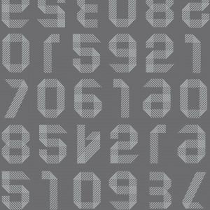 Linoleum Covor PVC ACCZENT EXCELLENCE 80 - Origami Numbers DARK GREY