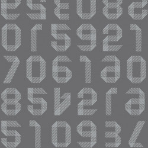 Linoleum Covor PVC TAPIFLEX EXCELLENCE 80 - Origami Numbers DARK GREY