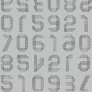 Linoleum Covor PVC TAPIFLEX EXCELLENCE 80 - Origami Numbers LIGHT GREY