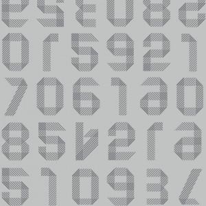 Linoleum Covor PVC Tarkett TAPIFLEX EXCELLENCE 80 - Origami Numbers LIGHT GREY