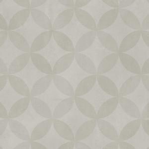 Covor PVC antiderapant AQUARELLE FLOOR - Circle Flower SOFT GREY
