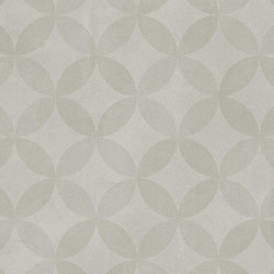 Covor PVC Tarkett antiderapant AQUARELLE FLOOR - Circle Flower SOFT GREY