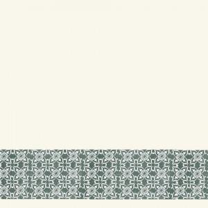 Tapet decorativ din PVC AQUARELLE WALL BORDERS - Decor Ornament GREEN