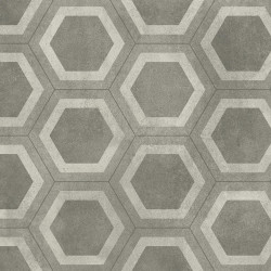 Covor PVC Tarkett antiderapant AQUARELLE FLOOR - Honeycomb Tile GREY