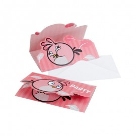 Poze Invitatii party Angry Birds - Pink Bird