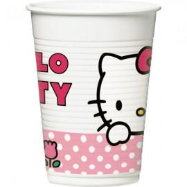 Poze Pahare party Hello Kitty Tulip