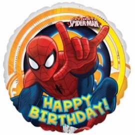 Poze Balon folie 45 cm Spiderman Birthday